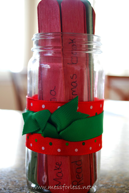 how to make an advent jar
