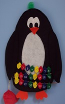 Felt penguin countdown to Christmas craft