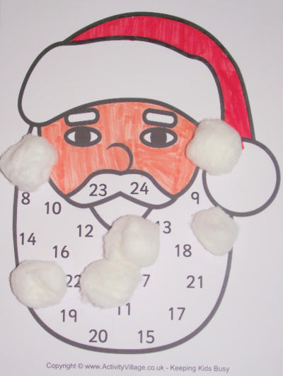 Santa Countdown to Christmas craft