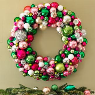 Christmas Ball wreath how to instructions
