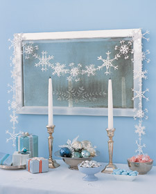 How to make snowflake garland