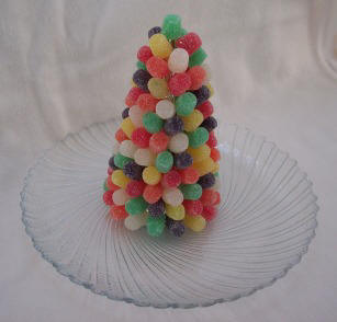 Gumdrop Christmas tree craft idea