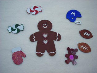 Paintable magnet craft for Christmas