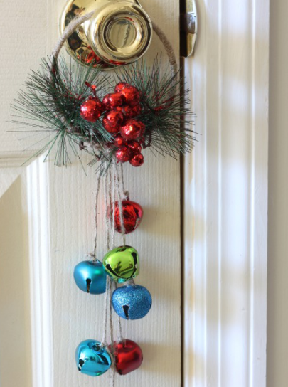 Jingle bell door hanger craft