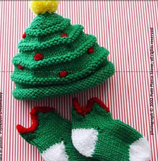 Easy Knitting Ideas For Christmas : Knit a christmas tree decoration knitted