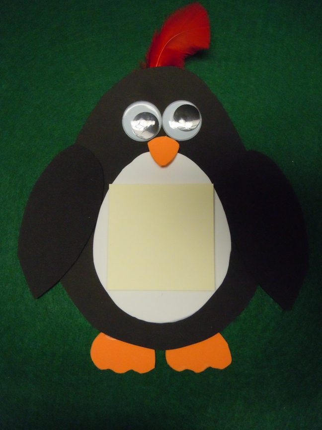 make a penguin from Craft foam