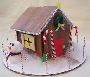 Faux Gingerbread House craft