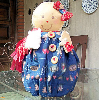 Gingerbread doll caft from craft foam and fabric