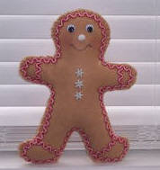 Learn to sew stuffed gingerbread man