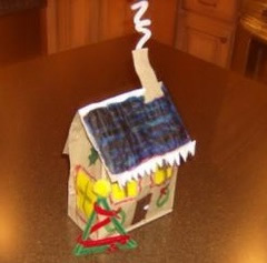 paper bag gingerbread house project