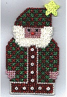 Country Santa Ornament