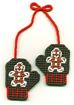 Gingerbread Mitten Plastic canvas pattern