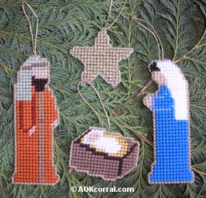 Plastic Canvas Ornament Patterns; Christmas Decoration Crafts
