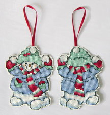 plastic canvas snowman pattern
