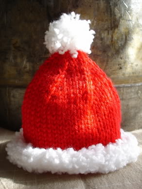 Knit Santa Hat Pattern : How to make Santa crafts; elf craft ideas