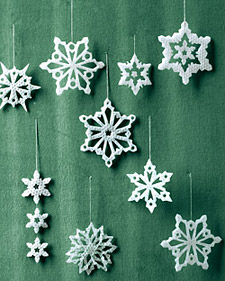 how to make wax snowflakes