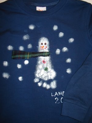 How to make a snowman sweatshirt