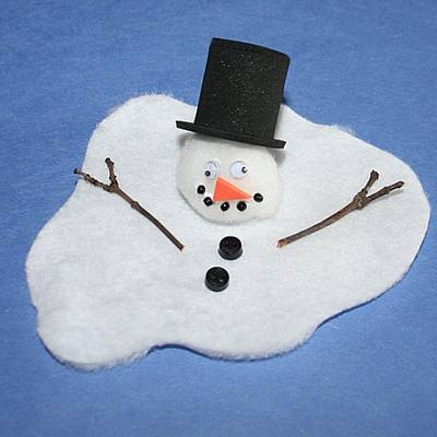 Christmas Craft Ideas - Melting snowman
