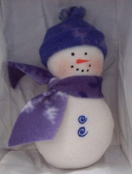 Simple fleece snowman