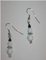 Beaded Snowman Earings
