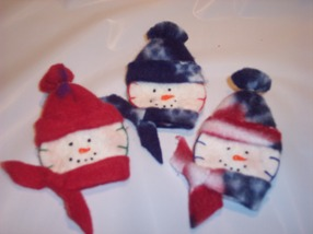 snowman pin craft