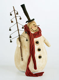 Muslin Snowman sewing project