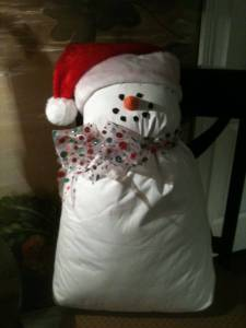 Pillow Snowman Craft