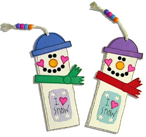 how to make a snowman bookmark from construction paper