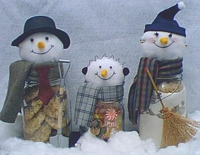 Mason Jar Snowman Craft Idea