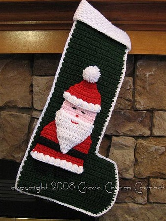 Crochet pattern - Santa Stocking