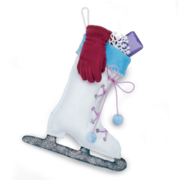 Ice skate Christmas stocking