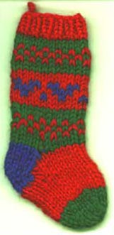 Christmas stocking knit pattern