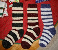 knitted stocking pattern