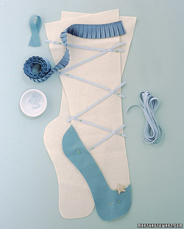 Ballet slipper Christmas stocking