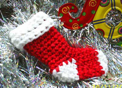 Mini crochet stocking
