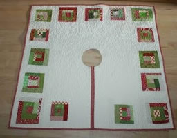 how to make a log cabin quilted tree skirt