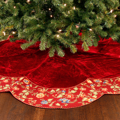 Homemade christmas tree skirts instructions