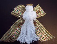 Crochet Thread Angel ornament craft