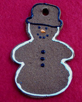 Cinnamon Snowman ornament Christmas craft