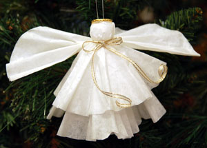this coffee filter angel craft is very easy to make yet it looks very impressive this craft is easy enough for most children to make all by themselves