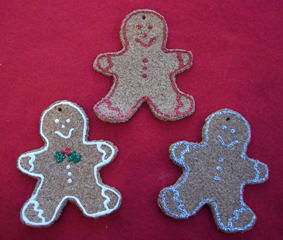 Cork Gingerbread Christmas ornaments