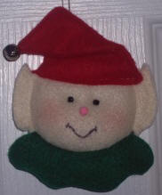 Felt Elf Ornament