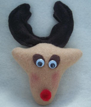 Felt Reindeer ornament craft