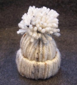 Yarn stocking hat ornament craft