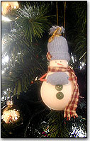 Lightbulb Snowman Ornament craft