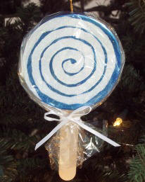 Lollipop Christmas ornament craft