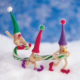 how to make an elf out of pipe cleaners