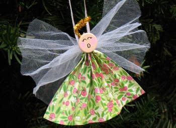 Paper angel ornament craft