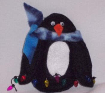 Penguin Ornament from Felt