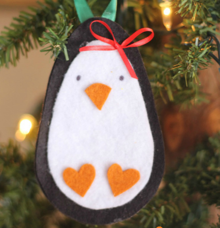 Cardstock penguin ornament to make